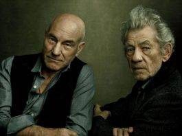 Patrick Stewart - Ian McKellen, in New York City. Annie Leibovitz.